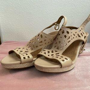 Gently used Clarks wedge heels